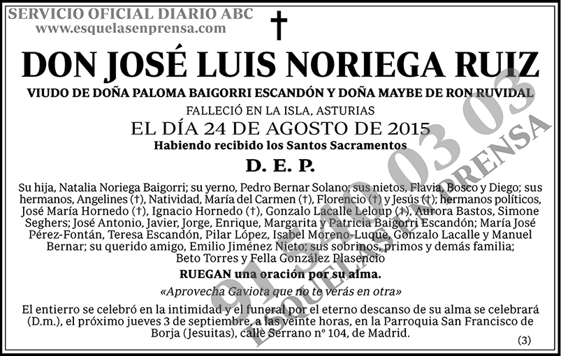 José Luis Noriega Ruiz